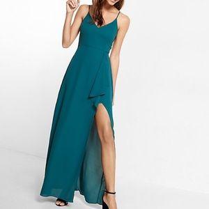 Express forest green dress